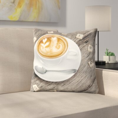 Bensley Coffee on Table Throw Pillow