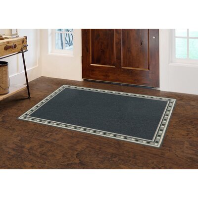 Christenson Tranquil Border Blue Area Rug Rug Size: Rectangle 34 x 5