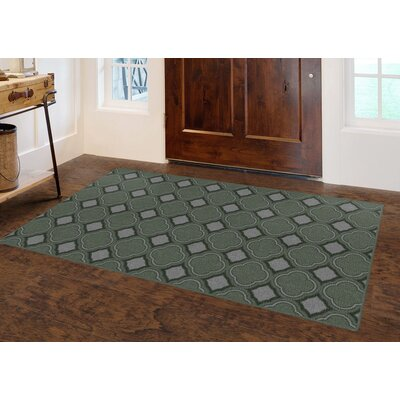 Fitch Trellis, Moroccan Lattice Inspired Green Area Rug Rug Size: Rectangle 26 x 310