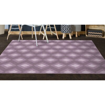 Fitzmaurice Purple Diamonds, Simple Trellis Purple Area Rug Rug Size: Rectangle 76 x 10