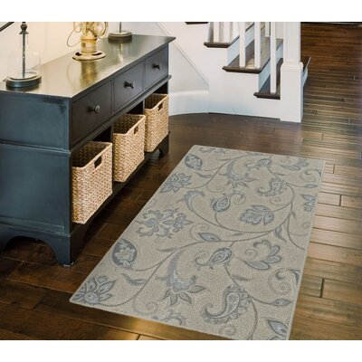 Honaker Traditional Jacobean Floral Beige Area Rug Rug Size: Rectangle 76 x 10