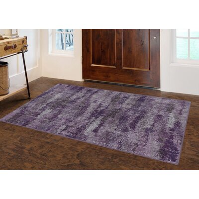 Fosse Plum, Vintage Abstract Purple Area Rug Rug Size: Rectangle 34 x 5