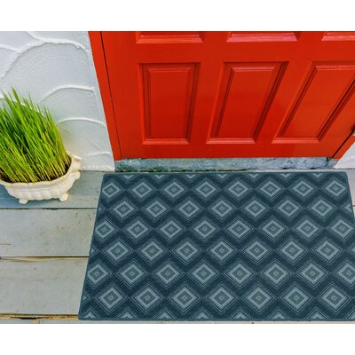 Fortney Geometric Trellis Blue Area Rug Rug Size: Rectangle 26 x 310