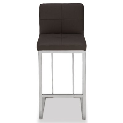 Bar Stool Upholstery: Black