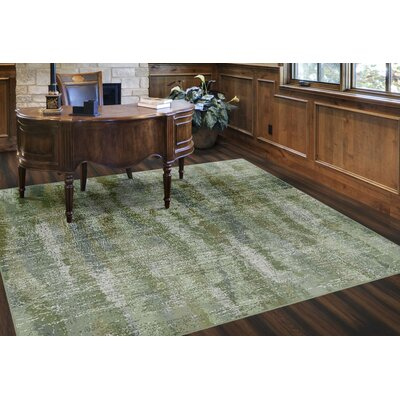 Fosse Greenery, Vintage Abstract Green Area Rug Rug Size: Rectangle 34 x 5