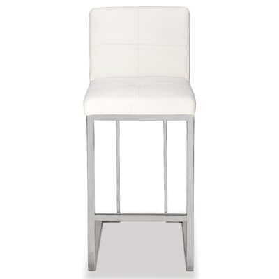 Bar Stool Upholstery: White