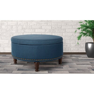 Holler Storage Ottoman Upholstery: Azure