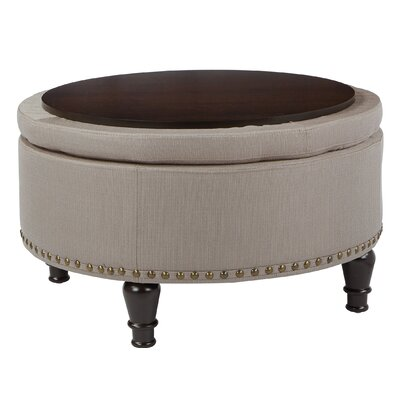 Holler Storage Ottoman Upholstery: Brown