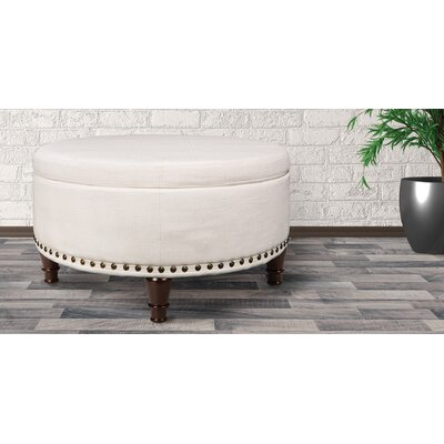 Holler Storage Ottoman Upholstery: Ivory
