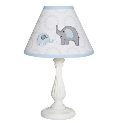 Elephant 10 Linen Bell Lamp Shade Color: Blue