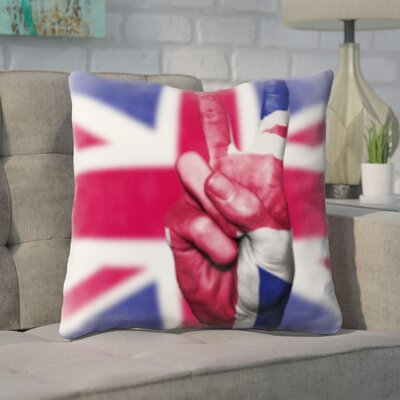 Gudino United Kindom Flag Throw Pillow
