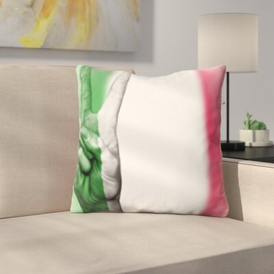 Berrian Italy Flag Throw Pillow