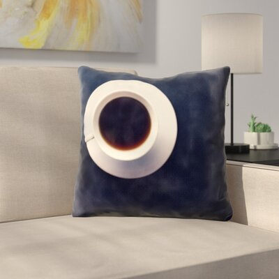 Bengtson Coffee on a Navy Background Throw Pillow