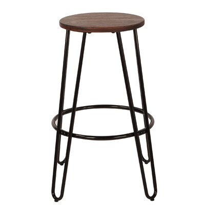 Woodsburgh 26 Bar Stool Color: Black