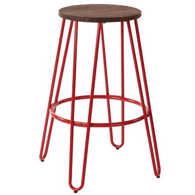Woodsburgh 26 Bar Stool Color: Red