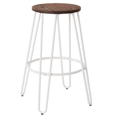 Woodsburgh 26 Bar Stool Color: White