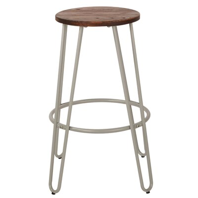 Woodsburgh 26 Bar Stool Color: Gray
