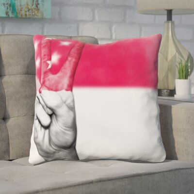 Guarino Singapore Flag Throw Pillow