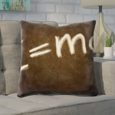 Guernsey Formula E Equals M C Squared Throw Pillow