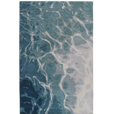 Groce Water Hand-Woven Wool Blue/Gray Area Rug Rug Size: Rectangle 83 x 115