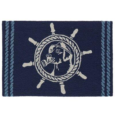 Eklund Seadog Hand-Woven Blue Indoor/Outdoor Area Rug Rug Size: Rectangle 17 x 25