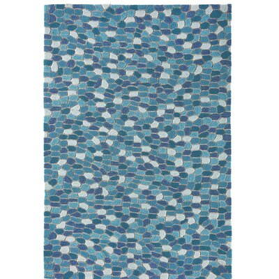 Hunsaker Pebbles Hand-Woven Blue Indoor/Outdoor Area Rug Rug Size: Rectangle 2 x 3