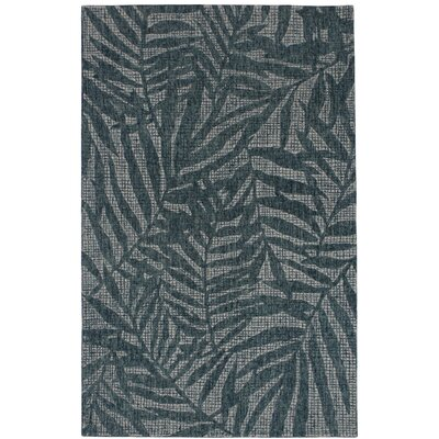 Claremont Olive Branches Hand-Woven Wool Gray Area Rug Rug Size: Rectangle 83 x 115