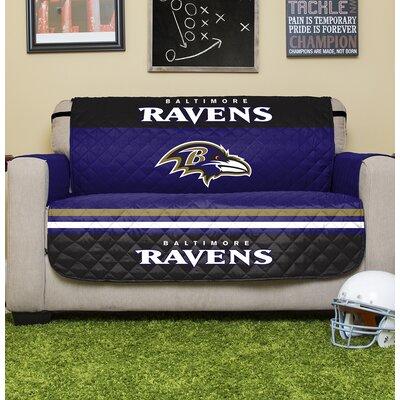 NFL Loveseat Slipcover NFL Team: Baltimore Ravens