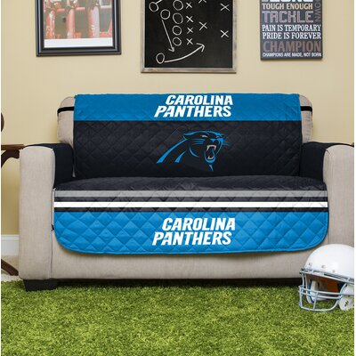 NFL Loveseat Slipcover NFL Team: Carolina Panthers