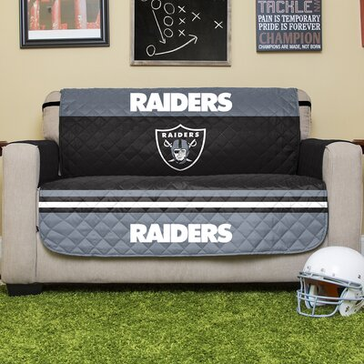 NFL Loveseat Slipcover NFL Team: Oakland Raiders