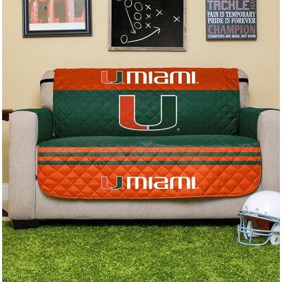 NCAA Loveseat Slipcover NCAA Team: University Of Miami