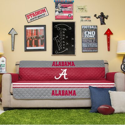 NCAA Sofa Slipcover NCAA Team: University of Alabama Crimson Tide