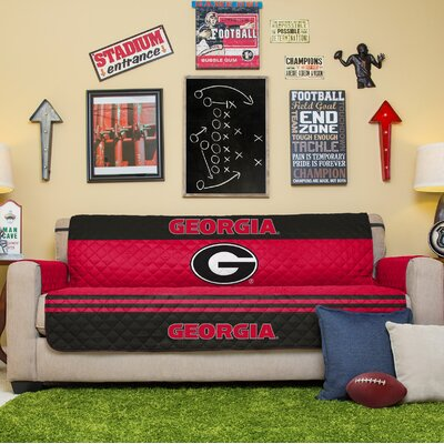 NCAA Sofa Slipcover NCAA Team: University Of Georgia