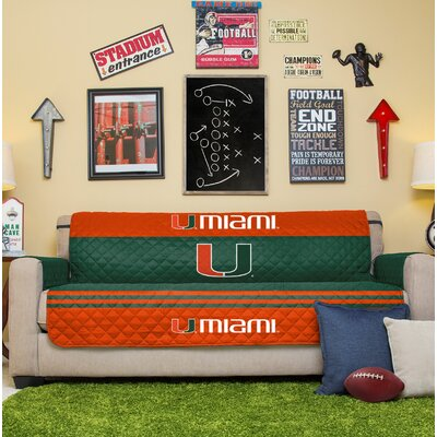 NCAA Sofa Slipcover NCAA Team: University Of Miami