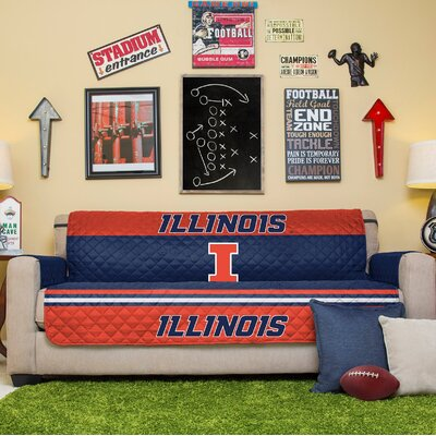 NCAA Sofa Slipcover NCAA Team: University Of Illinois