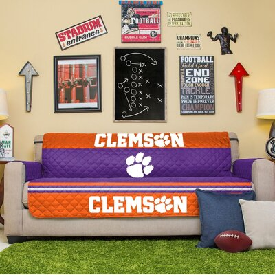 NCAA Sofa Slipcover NCAA Team: Clemson