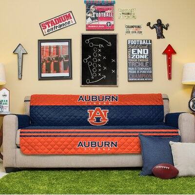 NCAA Sofa Slipcover NCAA Team: Auburn