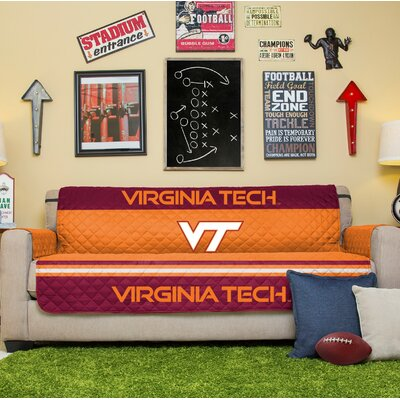 NCAA Sofa Slipcover NCAA Team: Virginia Tech