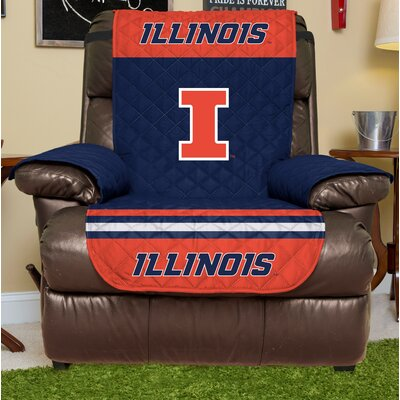 NCAA Recliner Slipcover NCAA Team: University Of Illinois, Size: Large
