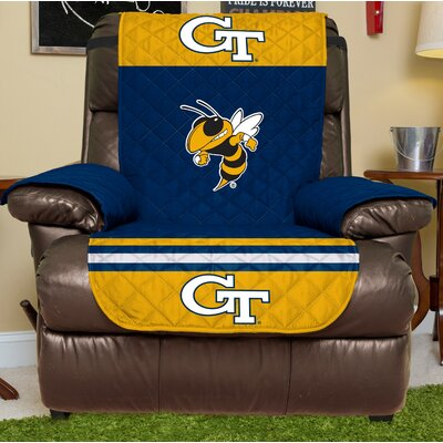 NCAA Recliner Slipcover NCAA Team: Georgia Tech, Size: Large