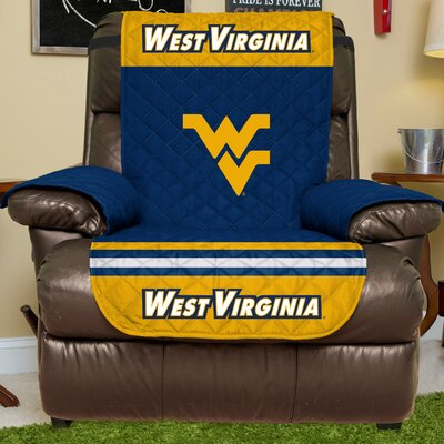 NCAA Recliner Slipcover NCAA Team: West Virginia University, Size: Large