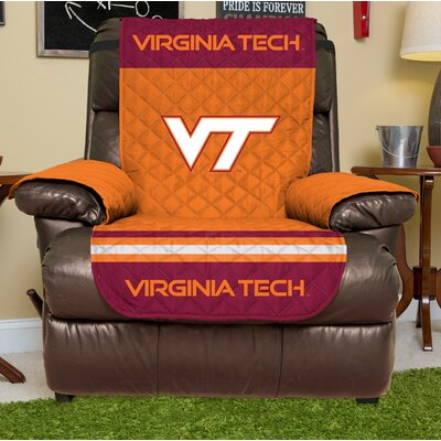 NCAA Recliner Slipcover NCAA Team: Virginia Tech, Size: Large