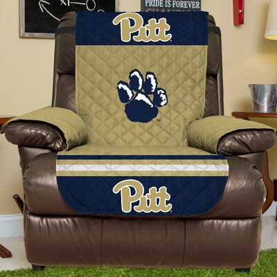 NCAA Recliner Slipcover NCAA Team: University Of Pittsburgh, Size: Large