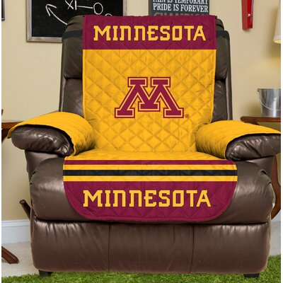 NCAA Recliner Slipcover NCAA Team: University Of Minnesota, Size: Large
