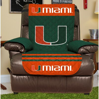 NCAA Recliner Slipcover NCAA Team: University Of Miami, Size: Small