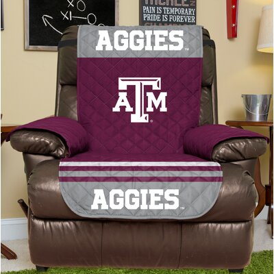 NCAA Recliner Slipcover NCAA Team: Texas A&M, Size: Large
