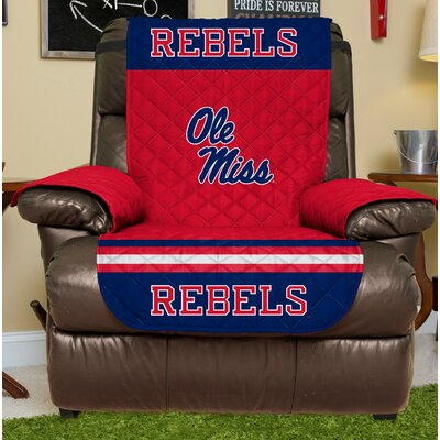 NCAA Recliner Slipcover NCAA Team: Ole Miss, Size: Large