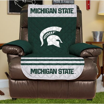 NCAA Recliner Slipcover NCAA Team: Michigan State, Size: Small