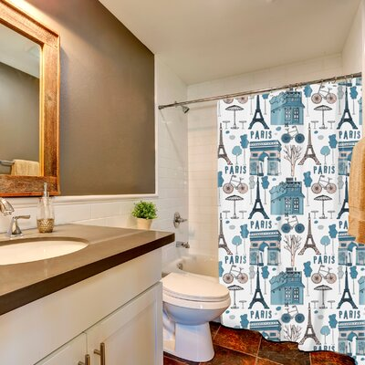 Ortez Paris Print Shower Curtain