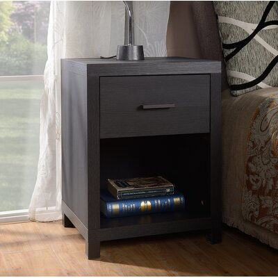 Cowell 1 Drawer Nightstand Color: Espresso